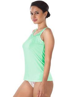 Shyle Green Lace Embellished Camisole