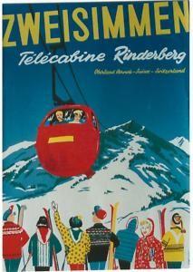 vintage ski poster ZWEISIMMEN by Niklaus Gross 1965