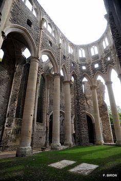Eglise abbatiale .Abbaye Notre-Dame de Hambye. Normandie