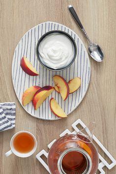 Nichts ist so erfrischend wie FAGE Total mit Pfirsichen.