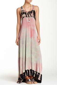 Tie Dye Maxi Hi-Low Dress by Go Couture on @HauteLook