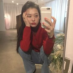 Choi Jin-ri (Sulli) + Former member of F(x) Sulli Choi, Choi Jin, South Korean Girls, Korean Girl Groups, My Girl, Cool Girl, Victoria, Aesthetic Photo, Korean Actresses