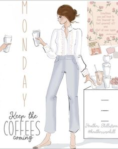 Monday Inspirational Quotes, Good Morning Cards, Daily Motivation, Morning Quotes, Girl Quotes, Hygge, Instagram, Design, Coffee