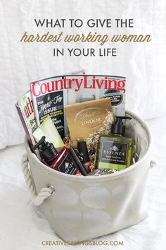 "Spa gift baskets can easily be customized based on the woman you want to spoil, and the size of your budget. Follow this simple ""formula"" to create a one-of-kind pamper basket from scratch, and find out which items are a MUST to include. Great as a Mothers Day gift idea, last minute Christmas gift, or just because!"