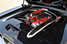 Custom 69 Dodge Charger under the hood. Wow that's a work of art too!
