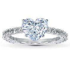 My dream ring!! Heart diamond in white gold!!