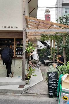 A summer honeymoon travel guide to Tokyo- places to see, things to eat, and where to shop! Cafe Shop Design, Small Cafe Design, Cafe Interior Design, Coffee Shop Japan, Small Coffee Shop, Japanese Coffee Shop, Cafe Bar, Cafe Restaurant, Restaurant Design