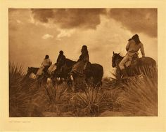 """Storm - Apache, 1906.  Photogravure.  Curtis Caption:  """"A scene in the high mountains of Apache-land just before the breaking rainstorm."""""""