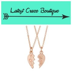 "REBECCA MINKOFF You & Me Broken Heart Necklace You get a set of 2, Rose-gold tone broken heart charm necklaces with ""you"" or ""me"" inscription, lobster clasp, 16in(L) with 2in extension, charm is approx. .5in(L). Care Instructions are as follows: keep necklaces dry, avoid soaps, perfumes or other chemicals. Rebecca Minkoff Jewelry Necklaces"