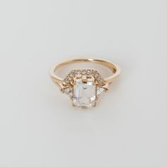 Though most folks discover this ring when looking for a way to build upon the engagement and cocktail ring of the same name, the strong lines of this notched band makes it a charming and unique piece