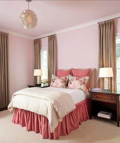 pink & brown bedroom ideas