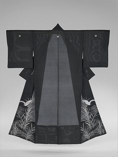 Summer Kimono with Sagi and Reeds, Meiji period (1868–1912) - late 19th century