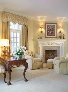 Diane Durocher ~ Lovely traditional living room.