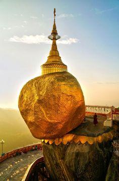 Golden Kyaiktiyo Pagoda, Myanmar http://exploretraveler.com http://exploretraveler.net