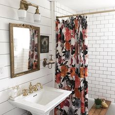 """""""When the shower curtain makes the room ✨ #anthrohome 📷: @balsamwest"""