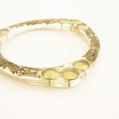 Resin BANGLE gold NAILS and PUSHPINS. Resin #bracelet. #luxury #chic cuff #bangle @REDbold