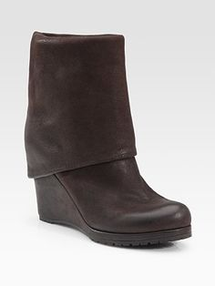 Prada - Foldover Wedge Boots - These look boring but they are so comfortable and amazing IRL. Must.