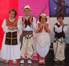 The Albanian children wearing  traditional clothes- ( Disha Thakur's Image )