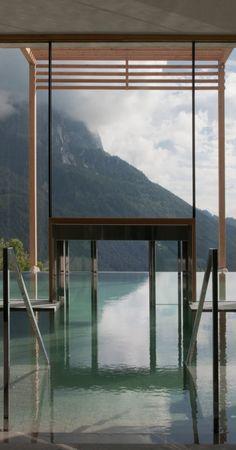 Indoor / Outdoor pool at Hotel Valentinerhof  in Italy