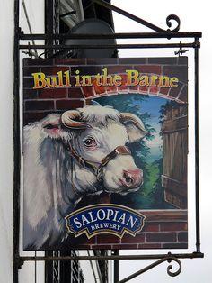 Bull in the Barne sign