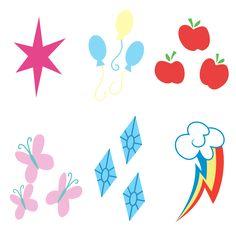 Mane 6 Cutie Marks by Yanoda