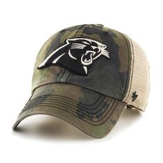 Carolina Panthers 47 Brand Green Howitzer Camo Burnett Mesh Adjustable Hat  Cap a3c9579d5