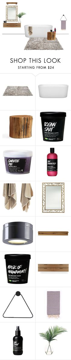"""bathroom"" by mischa-hemmings on Polyvore featuring interior, interiors, interior design, thuis, home decor, interior decorating, Wyndham Collection, Pottery Barn, Arteriors en Old School Electric"