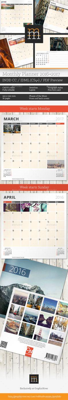 Desk Calendar 2016 - Metro Desk calendars, Calendars 2016 and Font