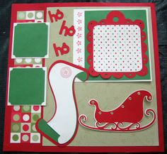 Another Progressive Scrapbook Page Scrapbook Templates, Scrapbook Sketches, Scrapbook Page Layouts, Christmas Scrapbook Layouts, Scrapbook Paper Crafts, Christmas Layout, French Christmas, Christmas Ideas, Christmas Cards