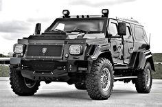 The Knight XV is built with integral armor, including windows made from ballistic glass and a body crafted from a combination of high strength steel, aluminum, and composite materials.    Other fun options include a Forward-Looking Infrared (FLIR) night-vision camera, electrostatic window tinting, and a ballistic run-flat tire system, in case your daily commute includes run-ins with Bane and the League of Shadows.