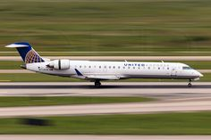 United Express Bombardier CRJ-700 at Houston Bush Intercontinental, operated by SkyWest Airlines