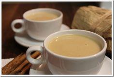 Atole de harina de maiz con leche, a delicious cornstarch based breakfast drink.