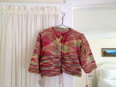 Juliet's Love Shrug:  Knit by JVS