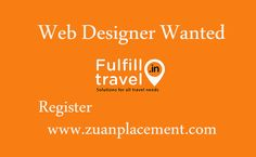 Referral Job Opening for #webdesigner #fresher in Fulfill Travel (p) ltd from @Zuan Placement Company Name: Fulfill Travel (p) ltd Wanted: Web Designer Fresher  Experience: 0-1 years  For complete #Job information, register below>>> http://goo.gl/jZ7d8R  #webdesigning #career #IT #Jobs
