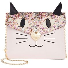 Betsey Johnson Women's Cat Clutch Blush Clutch: Handbags: Amazon.com ($79) ❤ liked on Polyvore featuring bags, handbags, clutches, cat handbags, betsey johnson purses, pink clutches, hand bags and handbags clutches