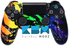 Rainbow Splatter PS4 Controller Available at www.KwikBoyModz.com   #KwikBoyModz #CustomController #CustomControllers #Controller #Controllers #ModdedController #ModdedControllers #NewController #ControllerMods #Gaming #Gamer #GamerGirl #GirlGamer #Gamers #PS4 #DS4 #PS4Controller #DualShock4 #CustomPS4Controller #ModdedPS4Controller #Rainbow