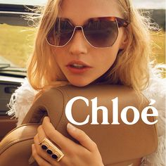 The spirited optimism of the Spring-Summer 2016 eyewear collection is captured in this season's campaign. The new Chloe CE124S Sunglasses Chloé girls skip across cobblestones and mosaic-tiled footp…