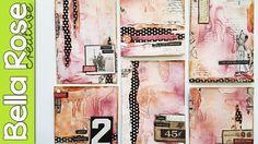Glass Bead Gel + Crackle Paste + Ink Sprays - Mixed Media Art Journal