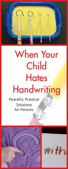 Solutions for helping children with handwriting at home.