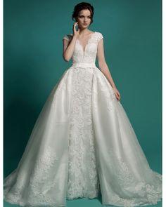 Vestido De Noiva 2 Em 1 longo Vestido De Noiva Vestido De Noiva saia destacável 2016 vestidos De casamento com trem destacável em Vestidos de casamento de Casamentos & Eventos no AliExpress.com | Alibaba Group