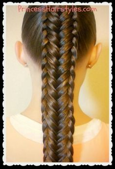 Twisted Edge Fishtail Braid Hair Tutorial  posted byPrincess Hairstyles