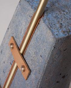 metal leather concrete detail