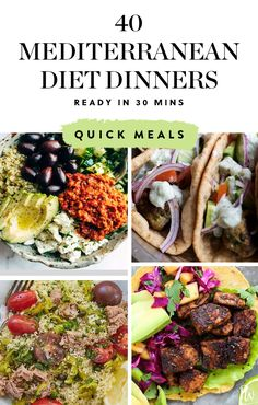 40 Mediterranean Diet Dinners You Can Make in 30 Minutes or Less purewow recipe food wellness health mediterranean healthy diet salad dinner 562738915935293609 Easy Mediterranean Diet Recipes, Mediterranean Dishes, Mediterranean Diet Shopping List, Mediterranean Diet Breakfast, Healthy Recipes, Healthy Snacks, Healthy Eating, Healthy Salads For Dinner, Heart Healthy Dinner