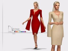 DS Design Bridal Dress Found in TSR Category Sims 4 Female Formal bridal Hairstyles The Sims 4 Pc, Sims Four, Sims 4 Mm, Sims 4 Mods Clothes, Sims 4 Clothing, Sims 4 Dresses, Formal Dresses, Prom Dresses, Maxis