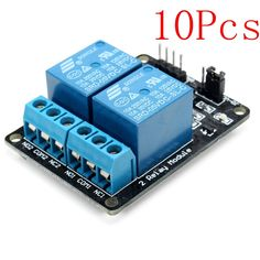 10Pcs 2 Way Relay Module With Optocoupler Protection