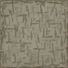 "Ha Chong-hyun, ""Conjunction 96-151"" (1996), oil on hemp cloth, 72.83 x 72.83 in. (courtesy Tina Kim Gallery)  Korea's Monochrome Painting Movement Is Having a New York Moment"