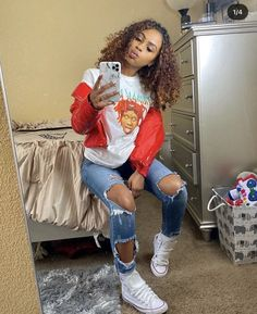 Swag Outfits For Girls, Cute Swag Outfits, Outfits With Converse, Teenage Outfits, Teen Fashion Outfits, Dope Outfits, Retro Outfits, Trendy Outfits, Fashion Hacks