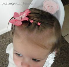 """30 hairstyles for toddler girls - babies need to look gorgeous too and these hair styles fit the bill just fine.  I let my nieces fall asleep in my arms and then with the help of their Moms, I do their hair.  When they wakeup, they have a new """"do"""" and there were no tears and they weren't doing the wiggle worm act!"""