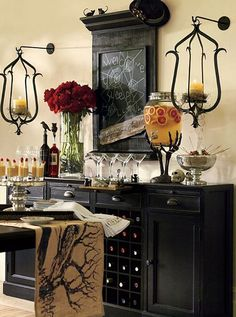 Halloween-decorating-ideas-picture8V- Love the stand for the punch dispenser!