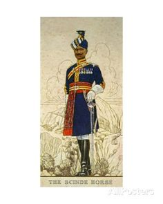 Risaldar-Major in Full Dress of the Scinde Horse, Indian Army, 1938 Giclee Print at AllPosters.com